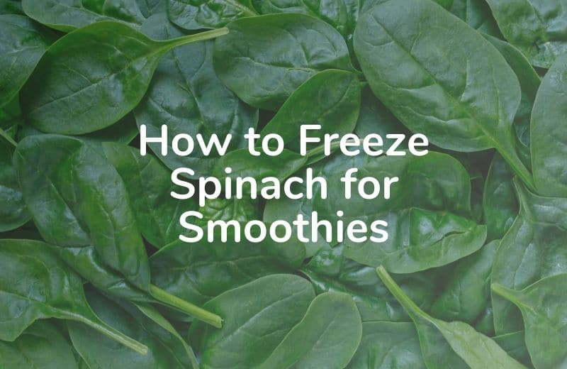How to Freeze Spinach for Smoothies