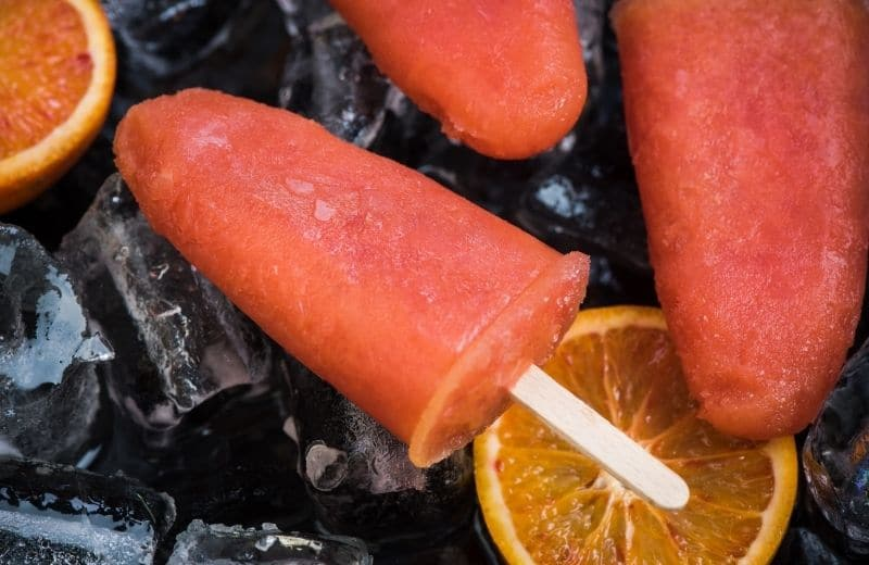 juice popsicle with pulp